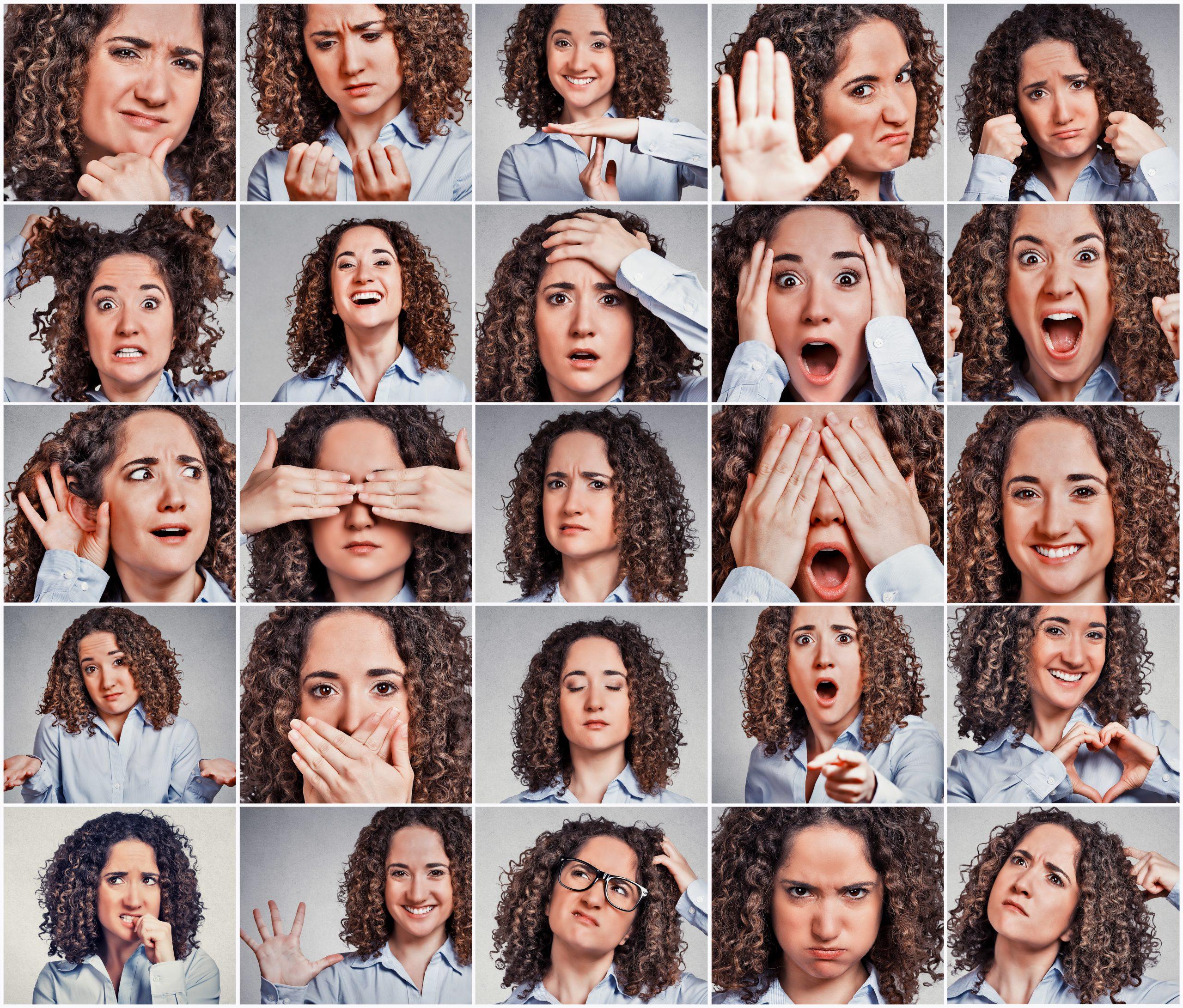 emozioni sul viso di ragazza